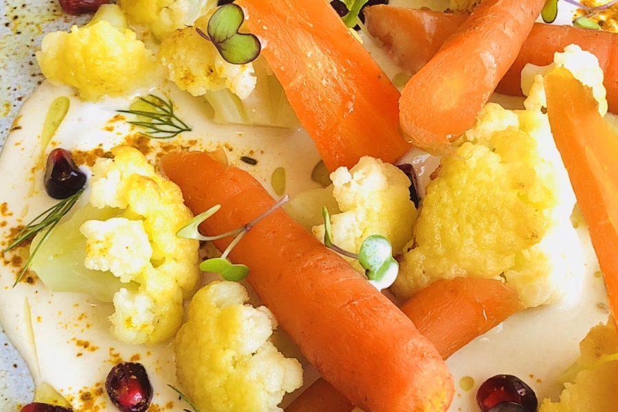 Carrots, Cauliflower and Tahini