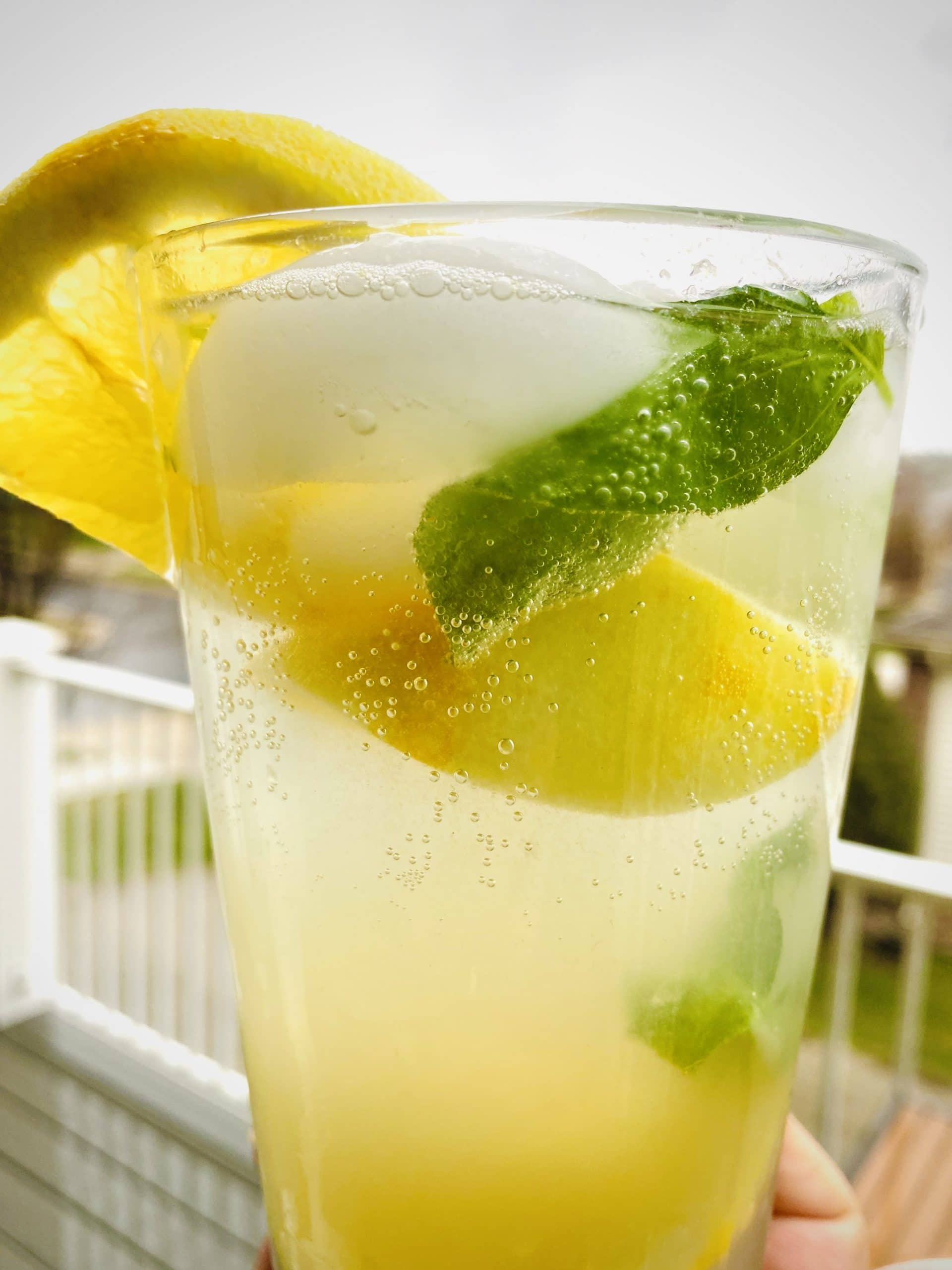 Ginger, Lemongrass & Basil Lemon Soda